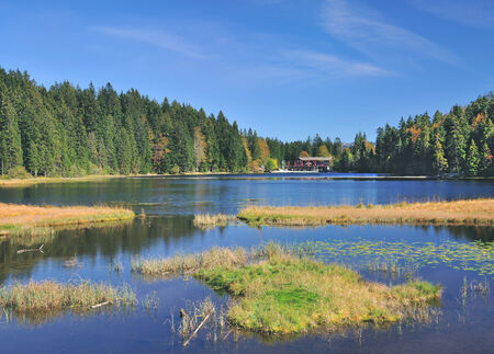 great Lake Arbersee,Bavarian Forest,Bavaria,Germany