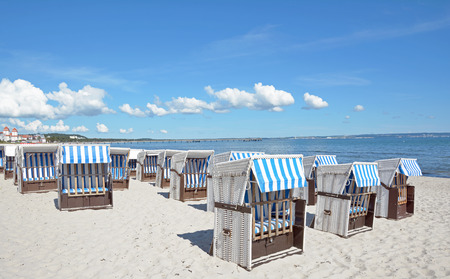 Beach of Binz on Ruegen Island,Mecklenburg-Vorpommern,Germany