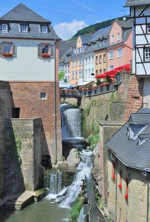 saar: Waterfall of Saarburg at Saar River,Rhineland-Palatinate,Germany