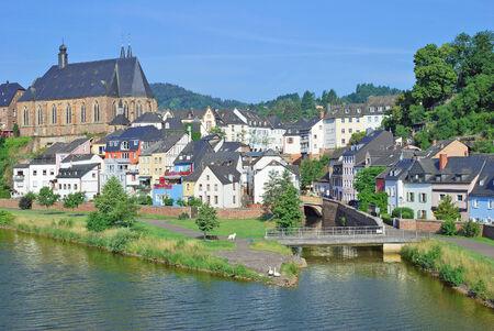saar: Saarburg at Saar River,Rhineland-Palatinate,Germany