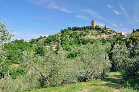 volterra: Montecatini near Volterra and San Gimignano,Tuscany,Italy