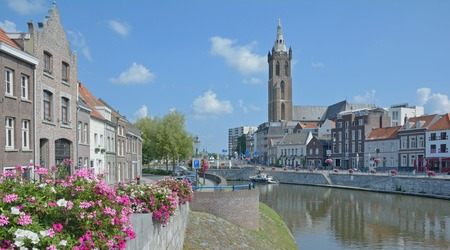 maas: Roermond at Rur River and Maas River,Limburg,Netherlands