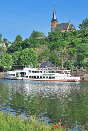 saar: Saarburg at Saar River,Rhineland-Palatinate,Germany