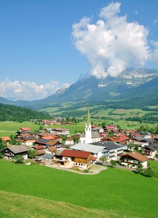 kaiser: View of Ellmau am Wilden Kaiser near Kitzbuehel,Tirol,Austria
