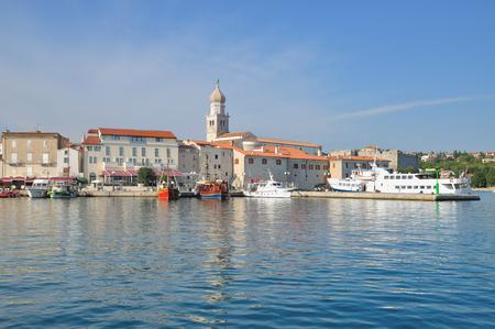 krk: Krk Town on Krk Island,adriatic Sea,Croatia