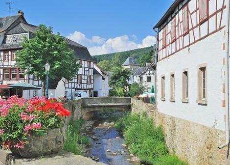 half timbered house: idyllic Village of Bad Muenstereifel,Eifel,Germany