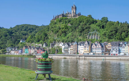 mosel: Cochem at Mosel River in Mosel Valley,Rhineland-Palatinate,Germany Stock Photo