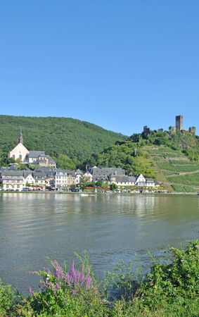 mosel: Wine Village of Beilstein near Cochem at Mosel River,Germany Stock Photo