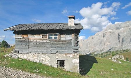 gardena: at Sella Pass in Gardena Valley,South Tyrol,Dolomites,Italy
