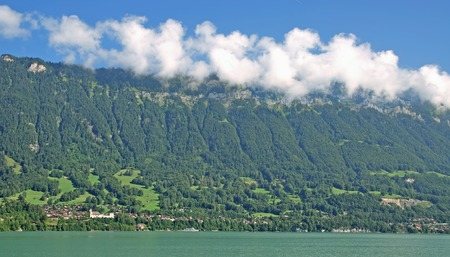 bernese oberland: Lake Brienz,Bernese Oberland near Interlaken,Switzerland