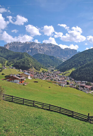 selva: Selva or Wolkenstein in Gardena Valley,South Tyrol,Italy Stock Photo