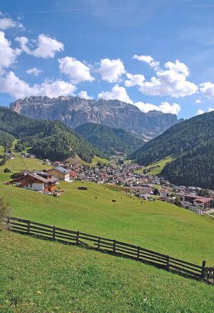 selva: Selva or Wolkenstein in Gardena Valley,South Tyrol,Italy Stock Photo