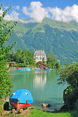 canton berne: Iseltwald,Lake Brienz,Bernese Oberland,Switzerland Stock Photo