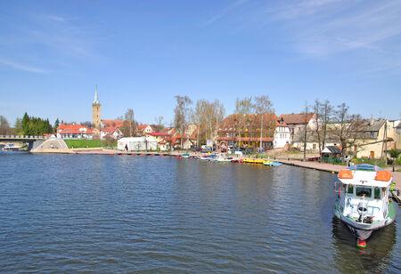 the popular Village of Mikolajki, Mazury, Poland Zdjęcie Seryjne
