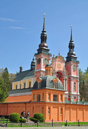 peregrinación: Swieta Lipka, Romer�a en Masuria, Polonia Foto de archivo