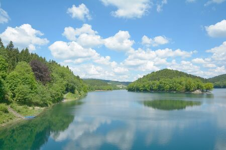 rhine westphalia: Agger reservoir, Bergisch Land, North Rhine Westphalia, Germany Stock Photo
