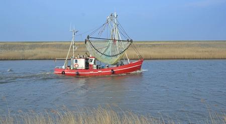 shrimp boat: Greetsiel,East Frisia,North Sea,Lower Saxony,Germany