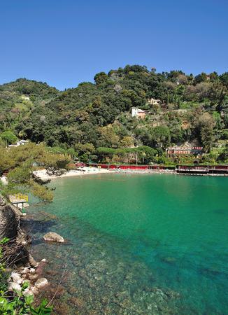 riviera: Beach of Portofino,italian Riviera,Liguria,Italy
