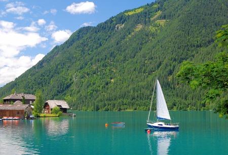 Lake Weissensee,Carinthian Lake District,Carinthia,Alps,Austria Standard-Bild