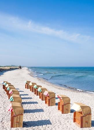mecklenburg  western pomerania: Beach on Fischland Darss Island,Baltic Sea,Germany Stock Photo