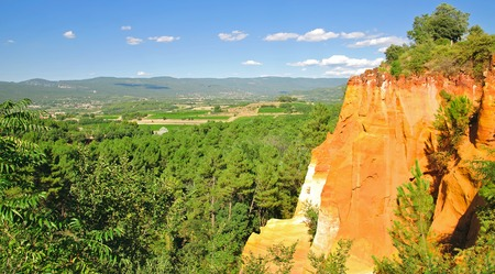 roussillon: Ocher Quarries of Roussillon,Provence,France
