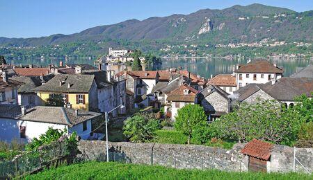 orta: Orta San Giulio,Lake Orta,Piedmont,Italy Stock Photo