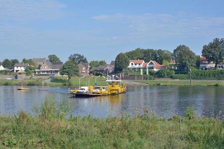 benelux: Village of Kessel at Maas River,Limbourg,Netherlands,Benelux
