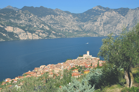 lake district: Malcesine,Lake Garda,italian Lake District,Italy Stock Photo