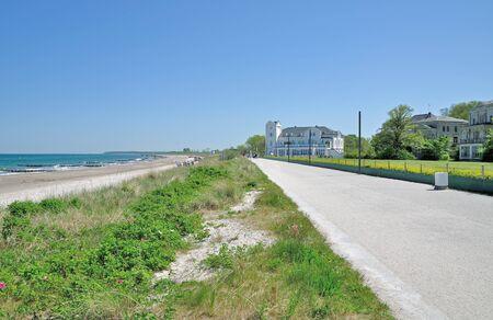 mecklenburg western pomerania: Promenade of HeiligendammBaltic SeaGermany Stock Photo