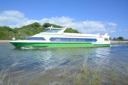 mecklenburg western pomerania: Boat ExcursionRuegen Islandbaltic SeaGermany Stock Photo