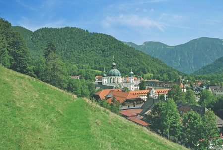 ettal: Village and Monastery of Ettal,upper Bavaria,Oberammergau,Bavaria,Germany