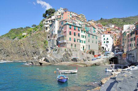 ''cinque terre'': Riomaggiore,Cinque Terre,italian Riviera,Liguria,Italy Stock Photo
