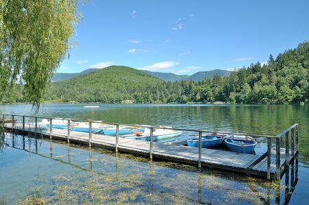tirol: Lake Montiggler,Eppan,Merano,South Tirol,Italy