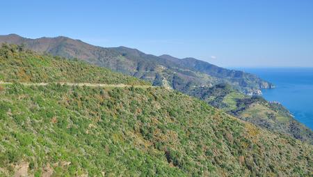 ''cinque terre'': Panoramic Road,Cinque Terre,Liguria,Italy Stock Photo