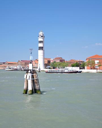 murano: Lighthouse,Murano Island,Lagoon of Venice,Italy Stock Photo