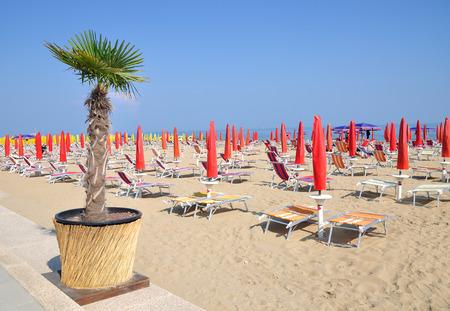 Strand, Lido di Jesolo, Adria, Venetien, Italien Standard-Bild - 47691554
