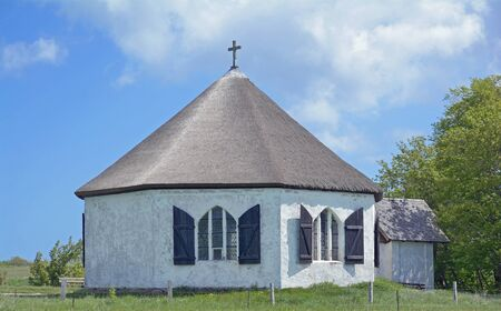 kap: Chapel,Vitt,Kap Arkona,Ruegen Island,Germany Stock Photo