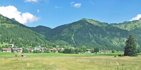 tal: Village,Nesselwaengle,Tannheimer Tal,Tirol,Austria Stock Photo