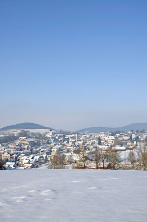 in bavaria: Village of Lam,bavarian Forest,Bavaria,Germany Stock Photo
