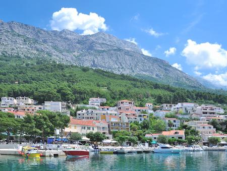 riviera: Village of Brela at Makarska Riviera,adriatic Sea,Dalmatia,Croatia