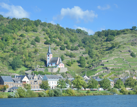 mosel: Wine Village of Hatzenport at Mosel River in Mosel Valley,Germany