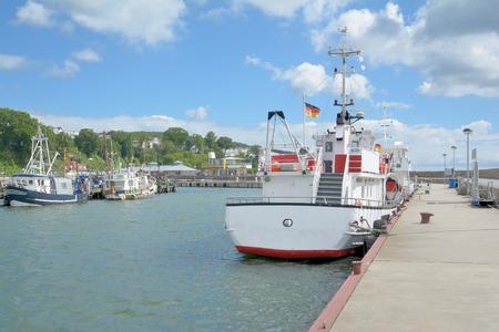 mecklenburg western pomerania: Harbor of Sassnitz on Ruegen Island at baltic Sea in Mecklenburg Western Pomerania,Germany