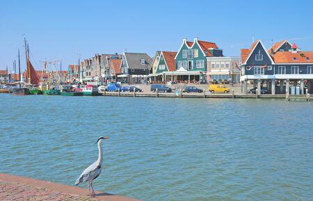 volendam: Harbor of Edam-Volendam at Ijsselmeer in Northern Holland,Netherlands Stock Photo