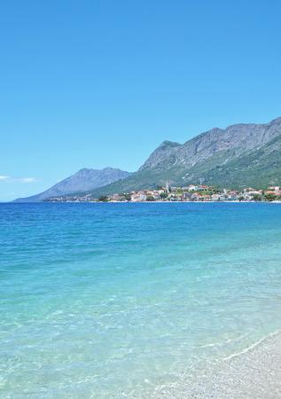dalmatia: View to Gradac at adriatic Sea,Makarska Riviera,Dalmatia,Croatia
