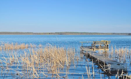 masuria: idyllic Place in Masuria at Lake near Mikolajki,Poland
