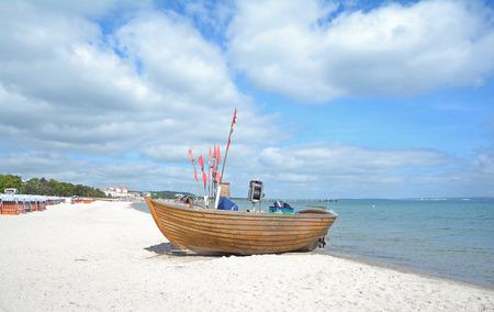 mecklenburg western pomerania: Beach of Binz on Ruegen island,baltic Sea,Mecklenburg Western Pomerania,Germany