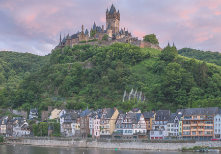 mosel: Wine Village of Cochem in Mosel Valley at Mosel River,Germany