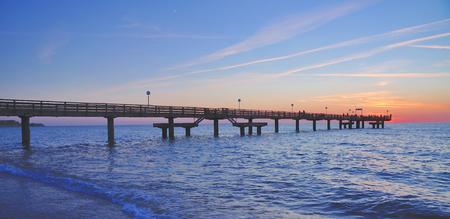 mecklenburg western pomerania: Pier of Rerik at baltic Sea in Mecklenburg western Pomerania,Germany