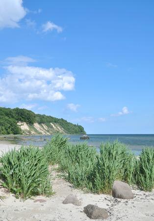 mecklenburg  western pomerania: View to Kap Nordperd in Goehren on Ruegen Island at Baltic Sea,Germany