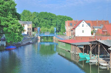lake district: Village of Plau am See in Mecklenburg Lake District,Germany Stock Photo